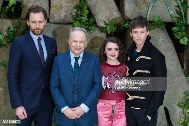 Tom Hiddleston Nick Park Maisie Williams and Eddie Redmayne attend the world film premiere of 'Early Man' at the BFI Imax cinema in the South Bank...