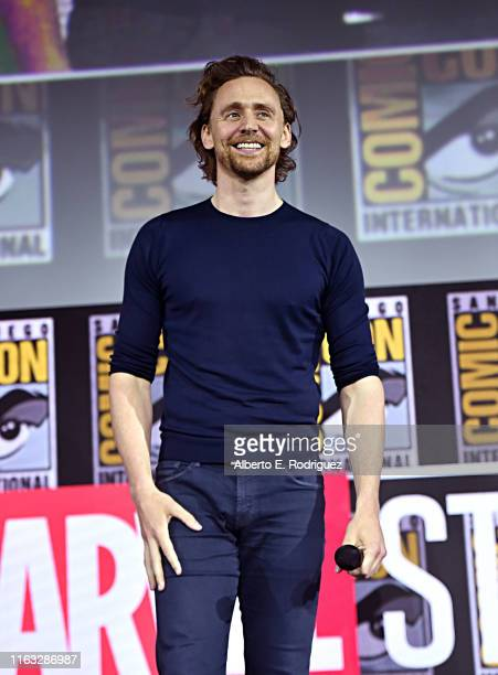Tom Hiddleston of Marvel Studios' 'Loki' at the San Diego Comic-Con International 2019 Marvel Studios Panel in Hall H on July 20, 2019 in San Diego,...