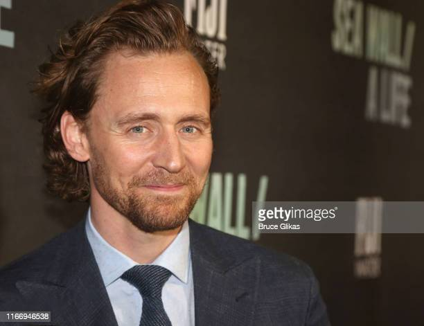Tom Hiddleston poses at the opening night of Sea Wall/A Life on Broadway at The Hudson Theatre on August 8 2019 in New York City