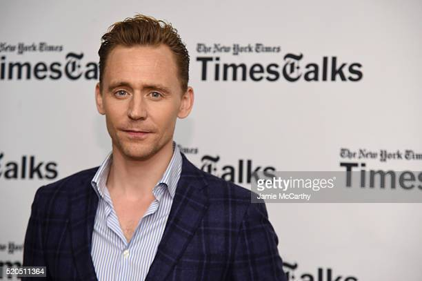 Tom Hiddleston poses before The New York Times TimesTalks at Directors Guild of America Theater on April 11 2016 in New York City