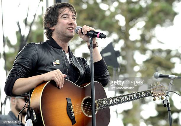 Tom Higgenson of Plain White T's performs as part of 973 Alice Now and Zen in Sharon Meadow in Golden Gate Park on September 29 2013 in San Francisco...