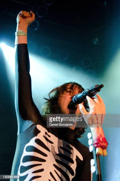 Tom Higgenson of Plain White T's performs on stage at House Of Blues Chicago on October 30 2011 in Chicago Illinois