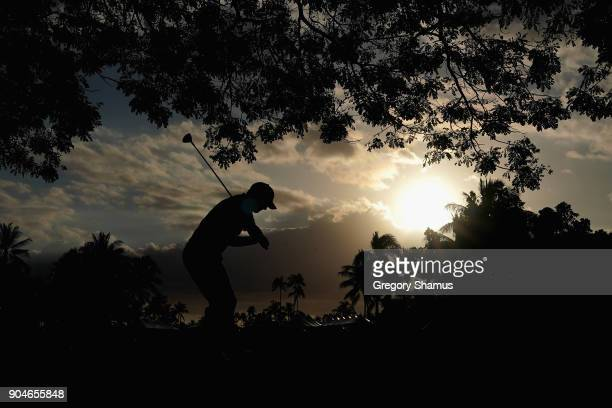 Tom Hoge of the United States plays a shot on the 18th hole during round three of the Sony Open In Hawaii at Waialae Country Club on January 13 2018...