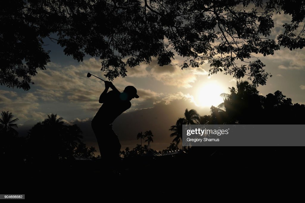 Tom Hoge of the United States plays a shot on the 18th hole during round three of the Sony Open In Hawaii at Waialae Country Club on January 13, 2018 in Honolulu, Hawaii.
