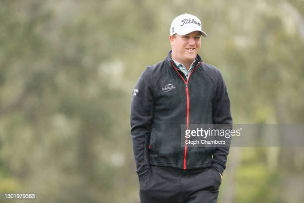 Tom Hoge of the United States walks on the second hole during the third round of the AT&T Pebble Beach Pro-Am at Pebble Beach Golf Links on February...
