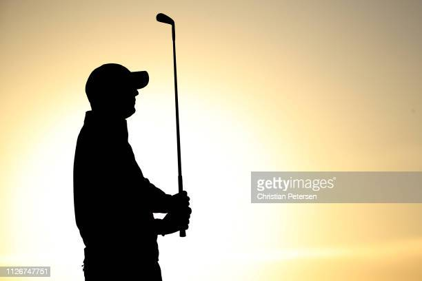 Tom Hoge plays his shot from the 12th tee during the second round of the Waste Management Phoenix Open at TPC Scottsdale on February 01 2019 in...