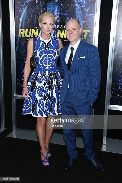 Tom Holkenborg and Saskia Holkenborg attend Run All Night New York premiere at AMC Lincoln Square Theater on March 9 2015 in New York City