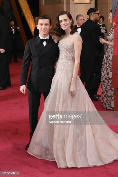 Tom Holland and Allison Williams attend the 90th Annual Academy Awards at Hollywood & Highland Center on March 4, 2018 in Hollywood, California.