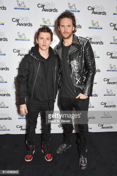 Tom Holland and Marc Jacques Burton attend the GQ Car Awards 2018 in association with Michelin at Corinthia London on February 5 2018 in London...