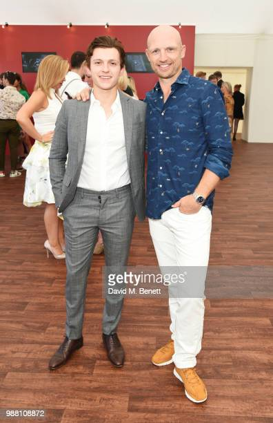Tom Holland and Matt Dawson attend the Audi Polo Challenge at Coworth Park Polo Club on June 30 2018 in Ascot England