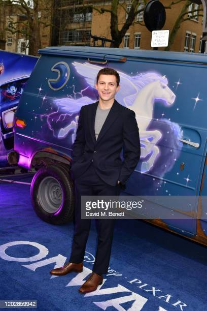 Tom Holland attends attends the UK Premiere of Onward at The Curzon Mayfair on February 23 2020 in London England