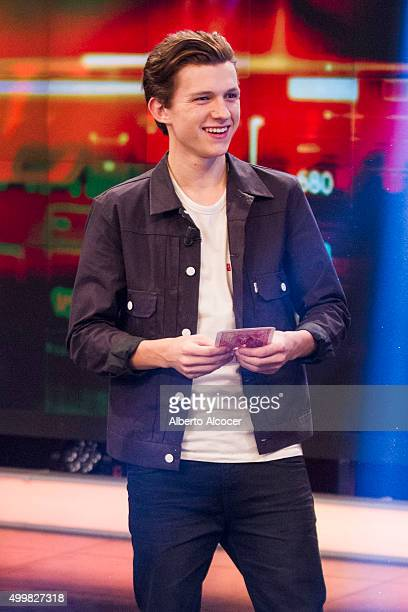 Tom Holland attends 'El Hormiguero' TV Show on December 3 2015 in Madrid Spain