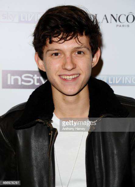 Tom Holland attends InStyle magazine's The Best of British Talent preBAFTA party at Dartmouth House on February 4 2014 in London England