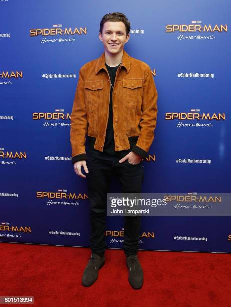Tom Holland attends SpiderMan Homecoming New York first responders' screening at Henry R Luce Auditorium at Brookfield Place on June 26 2017 in New...