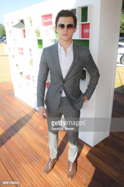 Tom Holland attends the Audi Polo Challenge at Coworth Park Polo Club on June 30 2018 in Ascot England
