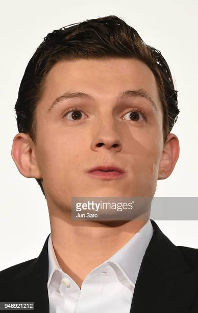 Tom Holland attends the Japan premiere of 'Avengers Infinity War' at the Toho Cinemas Hibiya on April 16 2018 in Tokyo Japan