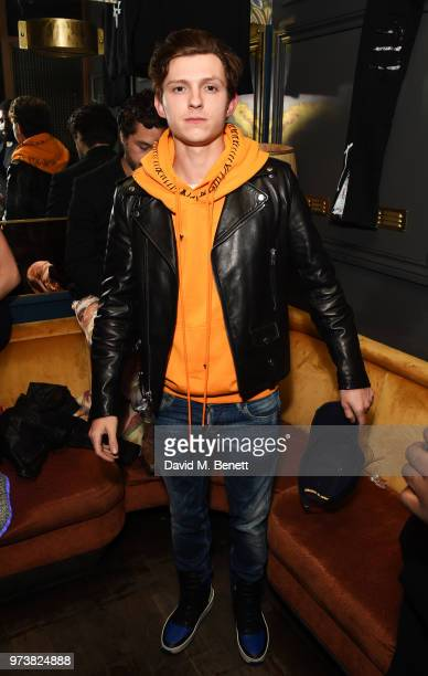 Tom Holland attends the MJB x YOTA fashion capsule party supported by Ciroc who have designed MJB x YOTA Limited Edition Bottles at The Scotch of St...