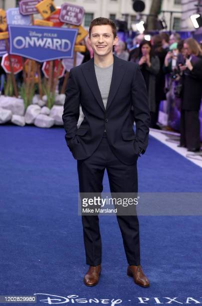 Tom Holland attends the Onward UK Premiere at The Curzon Mayfair on February 23 2020 in London England