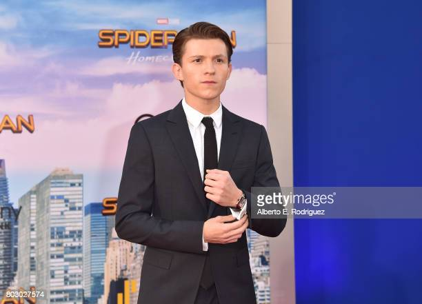 Tom Holland attends the premiere of Columbia Pictures' SpiderMan Homecoming at TCL Chinese Theatre on June 28 2017 in Hollywood California