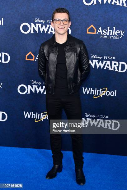 Tom Holland attends the Premiere of Disney and Pixar's Onward on February 18 2020 in Hollywood California