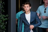 tom holland attends spiderman homecoming movie