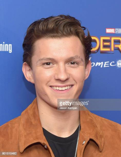 Tom Holland attends the Spiderman Homecoming New York First Responders' Screening at Henry R Luce Auditorium at Brookfield Place on June 26 2017 in...
