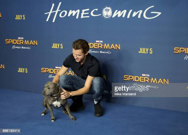Tom Holland attends the SpiderMan Homecoming photocall at The Ham Yard Hotel on June 15 2017 in London England