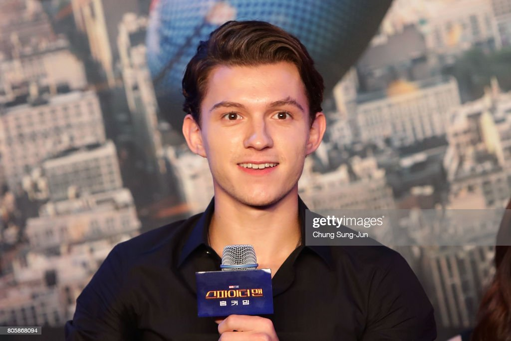 'Spider-Man: Homecoming' Press Conference : News Photo