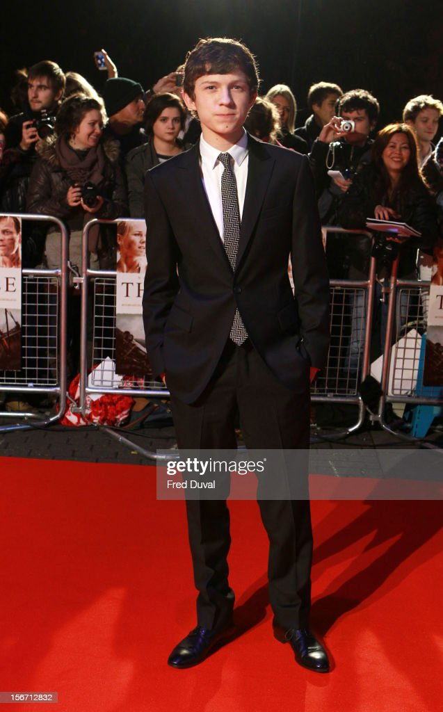 Tom Holland attends the UK charity premiere of 'The Impossible' at BFI IMAX on November 19, 2012 in London, England.