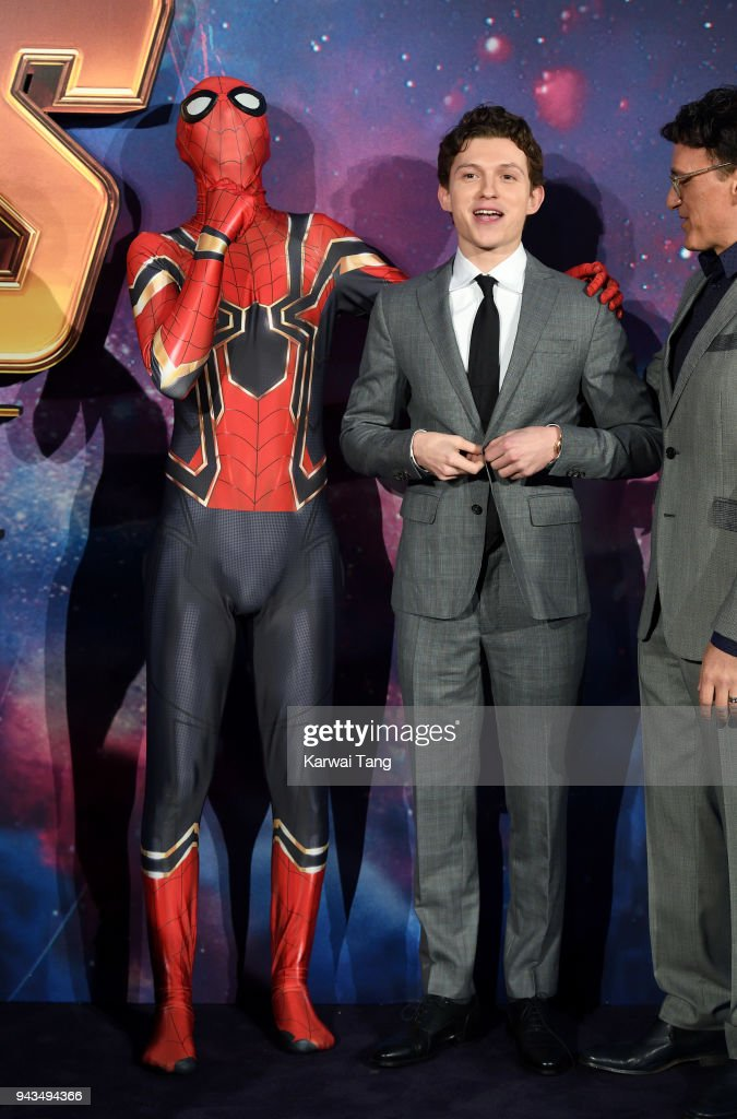 Tom Holland attends the UK Fan Event for 'Avengers Infinity War' at Television Studios White City on April 8, 2018 in London, England.