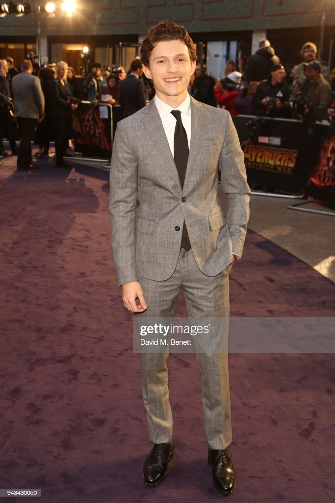 Tom Holland attends the UK Fan Event for 'Avengers: Infinity War' at the Television Studios White City on April 8, 2018 in London, England.