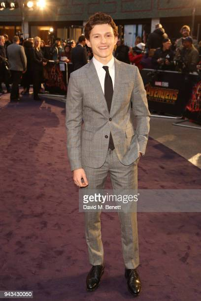 Tom Holland attends the UK Fan Event for 'Avengers Infinity War' at the Television Studios White City on April 8 2018 in London England