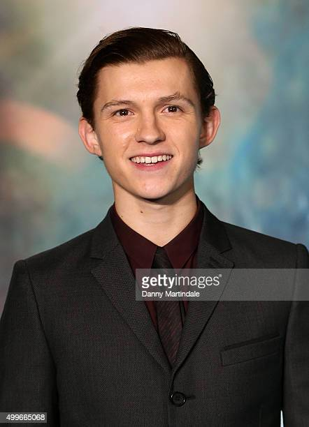 Tom Holland attends the UK Film Premiere of 'In the Heart of the Sea' at Empire Leicester Square on December 2 2015 in London England