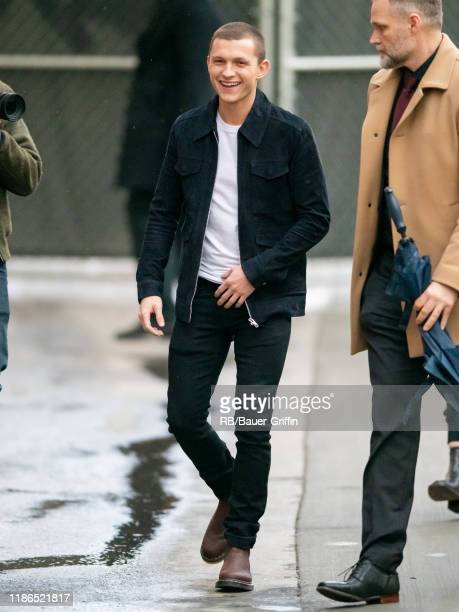 Tom Holland is seen at 'Jimmy Kimmel Live' on December 04 2019 in Los Angeles California