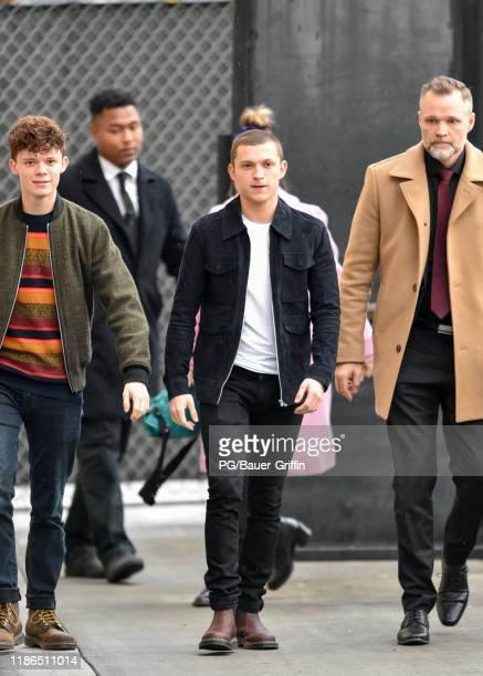 Tom Holland is seen on December 04 2019 in Los Angeles California