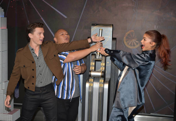 """NY: Stars Of """"Spider-Man: Far From Home"""" Light The Empire State Building"""