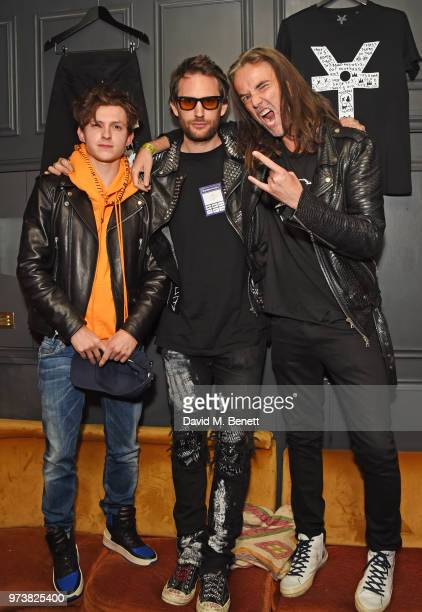 Tom Holland Marc Jacques Burton and Jason McNab attend the MJB x YOTA fashion capsule party supported by Ciroc who have designed MJB x YOTA Limited...