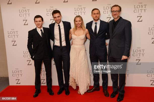 Tom Holland Robert Pattinson Sienna Miller Charlie Hunnam and James Gray attend the UK premiere of The Lost City of Z at British Museum on February...