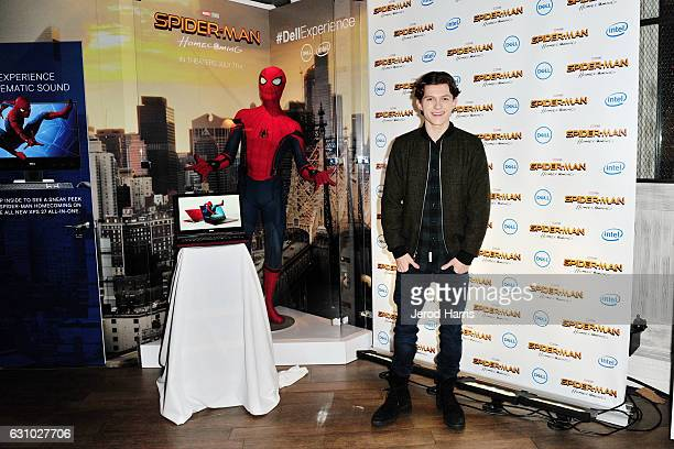 Tom Holland star of the upcoming SpiderMan Homecoming shows even superheroes can use some computing power at the CES 2017 #DellExperience Dell...