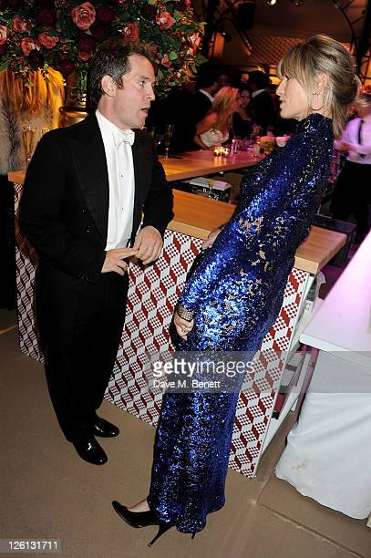 Tom Hollander and Nicola Formby attend a champagne reception at the Raisa Gorbachev Foundation Gala held at the Stud House Hampton Court on September...