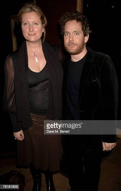 Tom Hollander and Susannah Harker attend the aftershow party following the opening night of 'The Sea' at the Embassy on January 23 2008 in London...
