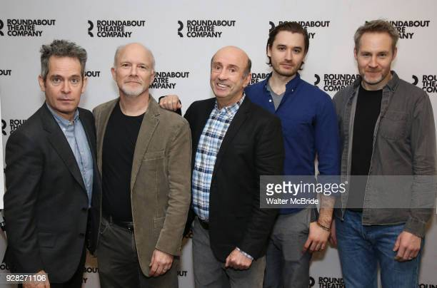 Tom Hollander Dan Butler Patrick Kerr Seth Numrich and Peter McDonald attend the 'Travesties' Cast Photo Call on March 6 2018 at the Roundabout...