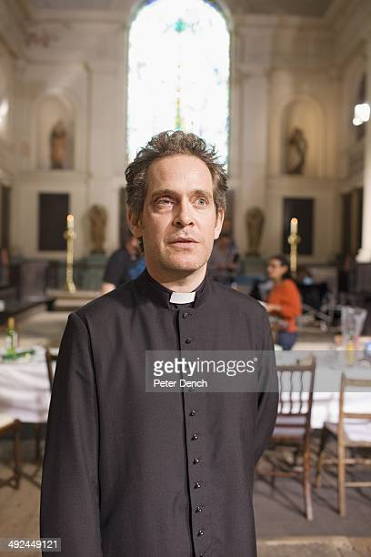 Tom Hollander on set of filming Rev 2 Rev is a BBC sitcom about a vicar running a modern innercity church with a reluctant wife and a depleted motley...