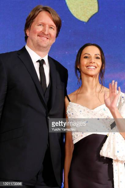 Tom Hooper and Francesca Hayward attend the Japan premiere of 'Cats' at Roppongi Hills on January 22 2020 in Tokyo Japan