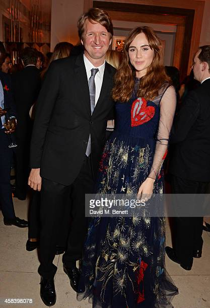 Tom Hooper and Suki Waterhouse attend the Harper's Bazaar Women Of The Year awards 2014 at Claridge's Hotel on November 4 2014 in London England