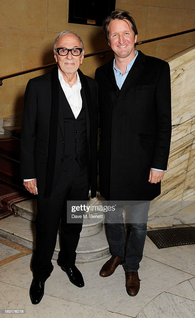 Tom Hooper (R) attends an after party following the press night performance of 'The Audience' at One Whitehall Place on March 5, 2013 in London, England.