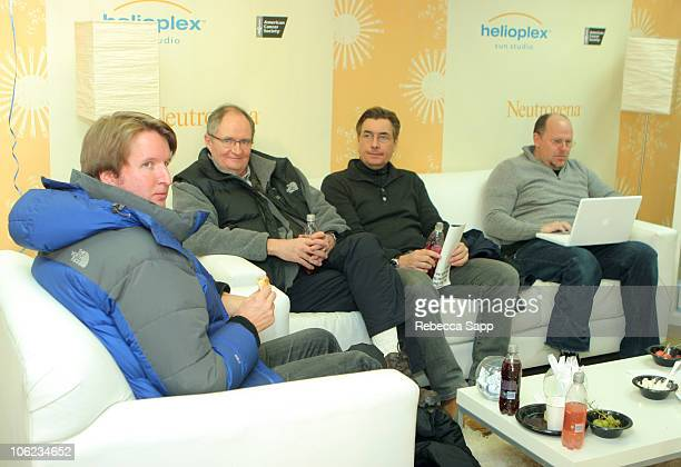 Tom Hooper Jim Broadbent and Andy Harries during 2007 Park City Luxury Lounge Day 6 at Main Street in Park City Utah United States