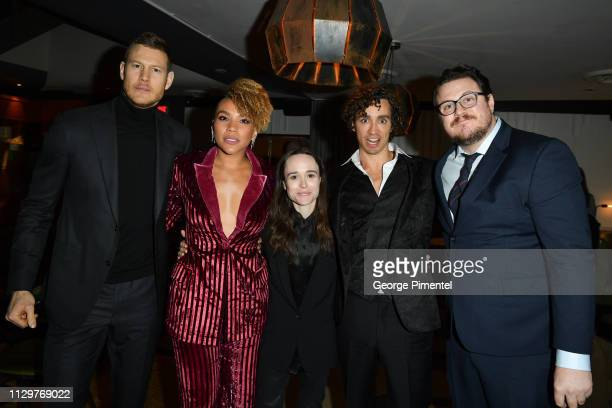 Tom Hopper Emmy RaverLampman Ellen Page Robert Sheehan and Cameron Britton attend the after party of Netflix's 'The Umbrella Academy' at The Drake...