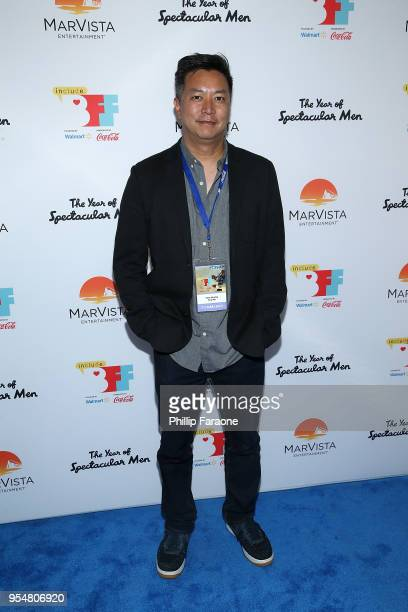 Tom Huang attends The Year of Spectacular Men premiere at the 4th Annual Bentonville Film Festival Day 4 on May 4 2018 in Bentonville Arkansas