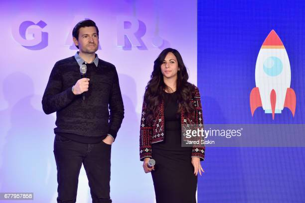 Tom Huffman and Jane Yusim speak on stage during POPSUGAR 2017 Digital NewFront at Industria Studios on May 3 2017 in New York City